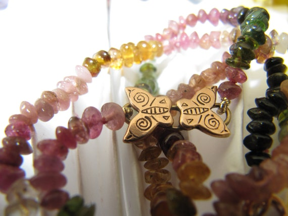 Butterfly and Tourmaline Necklace