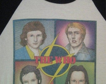 Original THE WHO vintage 1979 tour TSHIRT jersey