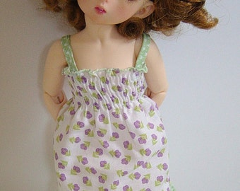 LTF/LittleFee/YOSD Shirred Lavender Flower Sundress w/ Ruffle