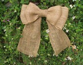 CUSTOM LISTING For: MARIA F.-Burlap Bow, Wreath Bow, Burlap Wedding Decor, Burlap Pew Bow, Swag Bow, Rustic Wedding Decor, Chair Back Bow