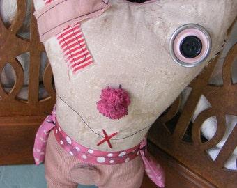 Toofie - Modern Vintage Toothache Rag Doll