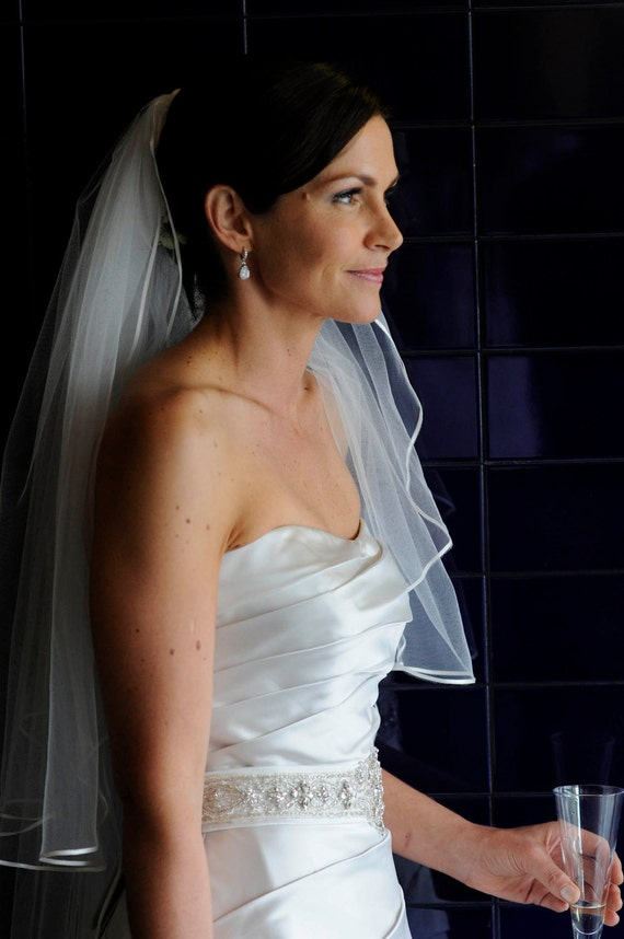Couture wedding veil. Two tier. Handmade in Europe