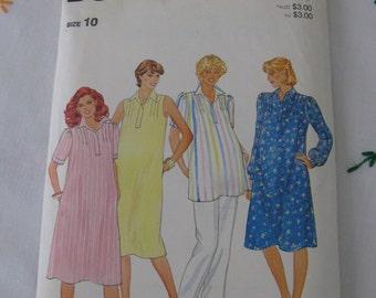 Butterick Pattern 4304 Size 10 Maternity Dress & Tunic
