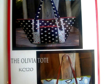 Kati Cupcake- The Olivia Tote Pattern KC120 & Leather Purse Handles