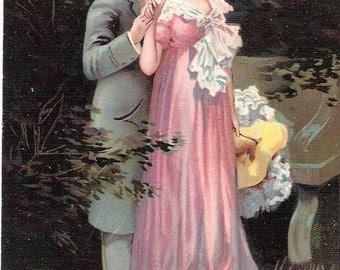Superb French romance postcard 1910