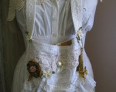 Victorian Shabby Bag, romantic shabby and chic, lace embellished cottage chic, bridal wedding bag