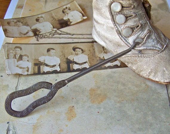Antique Buttonhook Shoe Hook