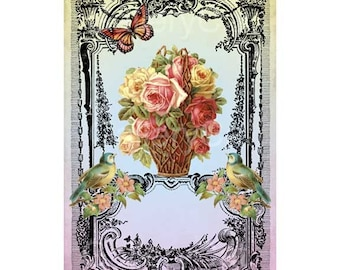 Victorian Bliss Digital Collage Sheet Instant Download Paper Crafts Card Original Altered Art by GalleryCat CS61