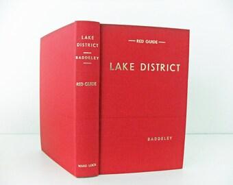 Lake District Guidebook. Ward Lock Red Guide. Vintage travel book. Baddeleys Lake District, travel guide