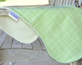 Contour Burp Cloth Terry Cloth and Flannel Leaf Green Plaid - Spring Meadow
