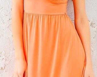 sundress. sleeveless summer dress. skirt with flounce