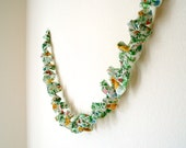 ON SALE! Ruffled Floral Garland - Pink, Yellow, Blue, and Green - 5 ft