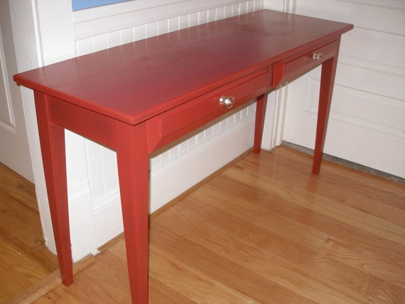 Desk, table, computer, red, painted, wood, FREE SHIPPING