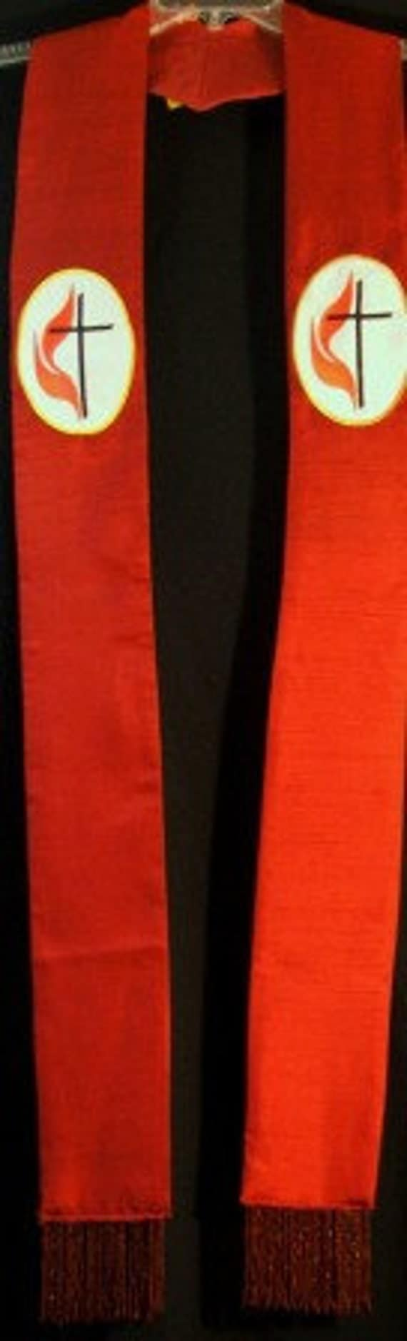 Clergy Stole, Vestments, UMC, Ordination, Red, Green, Blue, White, Purple MADE to ORDER