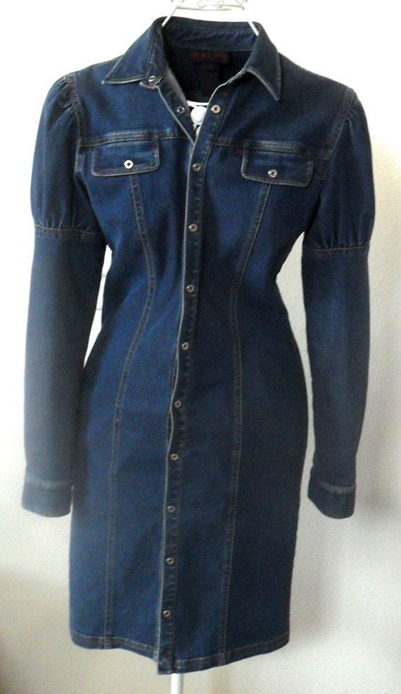 Ralph Lauren Jean Dress /Coat  Size 3/4