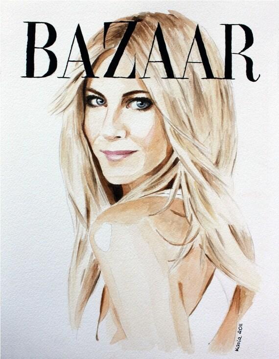 Harper's Bazaar. Jennifer Aniston. Enhanced Matte Print. Large Format