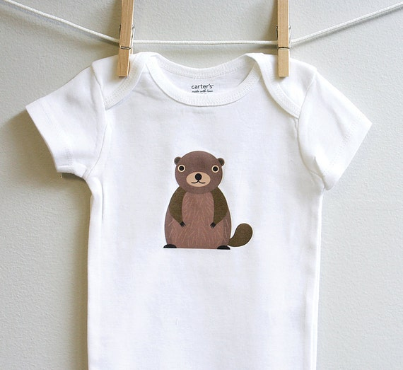 Groundhog baby clothes. Short or long sleeve. Your choice of size.