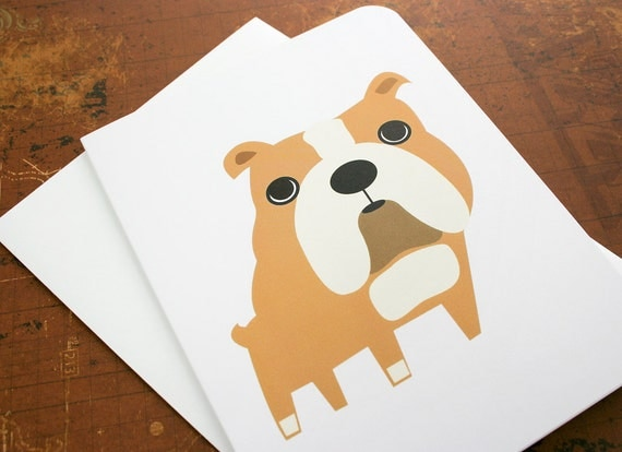 Bulldog card. Blank for own personal message.