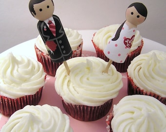 Valentine Cuties- Custom Cupcake Toppers for Valentine's Day