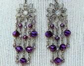 Crystal Rose Chandelier Earrings
