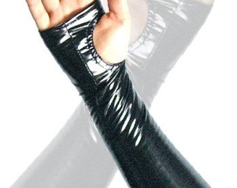 4-way stretch vinyl fingerless gloves