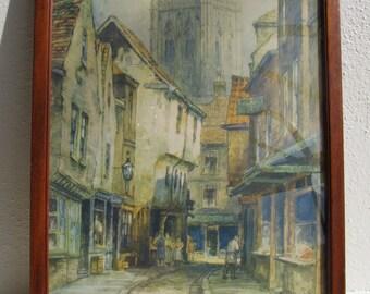 Vintage Street Scene Print