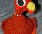 Custom Crocheted Stuffed Animal Chicken MADE TO ORDER //Big Red Chicken Amigurumi Made to Order