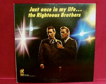 The RIGHTEOUS BROTHERS - Just Once In My Life - 1964 Vintage Vinyl Record