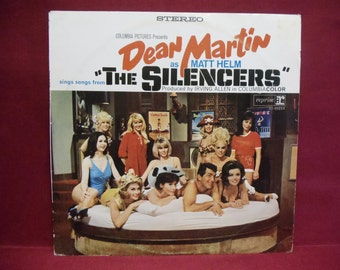 THE SILENCERS - Soundtrack - 1960s Vintage Vinyl Record Album...German Pressing
