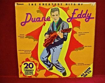 DUANE EDDY - The Greatest Hits of Duane Eddy - 1970s Vintage Vinyl Record Album...English Pressing