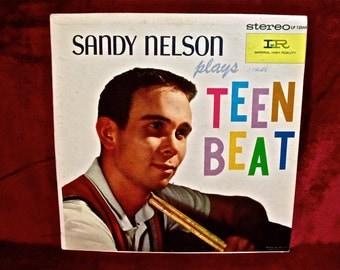 SANDY NELSON - Sandy Nelson Plays Teen Beat - 1960 Vintage Vinyl Record Album