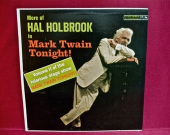 HAL HOLBROOK - Mark Twain Tonight - 1970s Vintage Vinyl Record Album