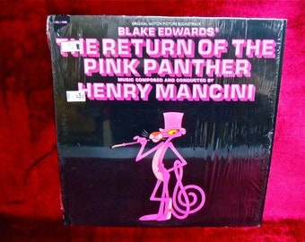 The RETURN of the PINK PANTHER - Original Motion Picture Soundtrack - 1975 Vintage Vinyl Record Album