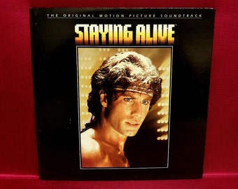 STAYING ALIVE - Original Motion Picture Soundtrack  - 1983 Vintage Vinyl GATEfold Record Album