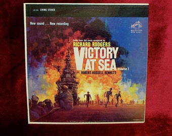 VICTORY at SEA VoL. 1 - Score From Nbc Television - 1960s Vintage Vinyl Record Album