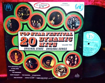 Top Stars Festival - 20 DYNAMIC HITS Vol. 2...as advertised on TV -1972  Vintage Vinyl Record Album...in aid of the World's Refugees