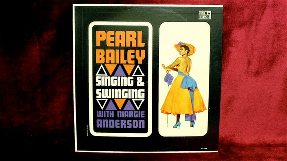 PEARL BAILEY - Singing and Swinging - 1950s Vintage Vinyl Record Album