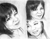 20% Discount Promo Custom Original Charcoal Portrait Collage From Your Photograph 12X8 - Best Birthday / Anniversary Gift Idea