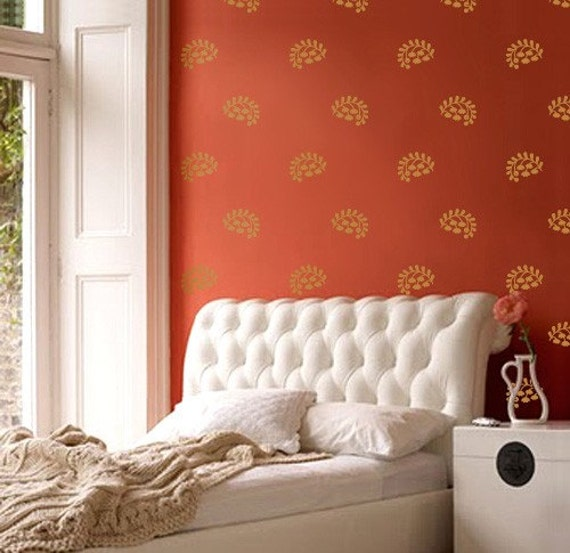 Vinyl Wall Sticker Decal Home Indian Floral Sprigs Exotic