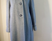 Vintage Nubby Wool Gray Coat