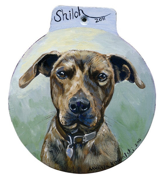 Custom Pet Portrait Ornaments Hand Painted By Mylissa Kowalski Listing is for a painted ornament of your dog cat horse or loved one.