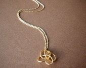 Gold Love Knot Necklace / Love Knot Jewelry / Wire Twist Necklace / Small Delicate Necklace / everyday, simple, birthday, bridesmaid jewelry