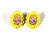 Eighties Style Barbie Cameo Yellow Post Earrings