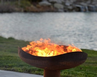 Sand Dune Fire Pit - Functional Art Steel Fire Bowl for your Backyard or Outdoor Room