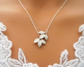 Silver Leaves Necklace - STERLING SILVER CHAIN