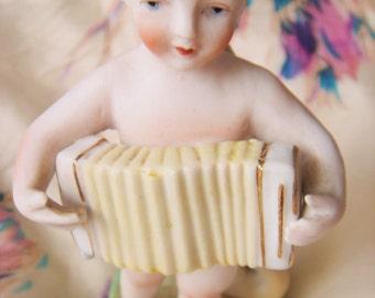 Vintage Porcelain Cherub Bud Vase-Halsey