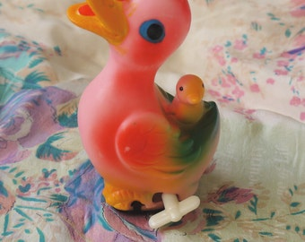 Vintage Mechanical Wind Up Toy Duck