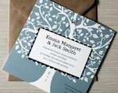 """Tree Wedding Invitation / oak tree rustic invites / engagement invitation / """" Oak tree"""""""