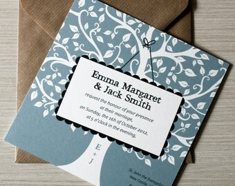 "Oak Tree Wedding Invitation / oak tree rustic invites / engagement invitation / "" Oak tree"""