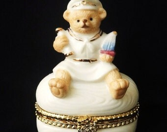 Baum Brothers Trinket Box Sailor Bear